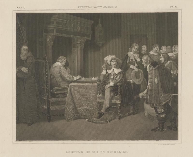 Louis XIII And Richelieu play chess